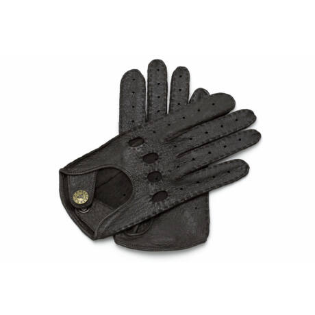 Women's peccary leather driving gloves DARK BROWN