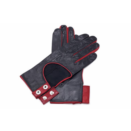Women's hairsheep leather unlined gloves BLACK(R)