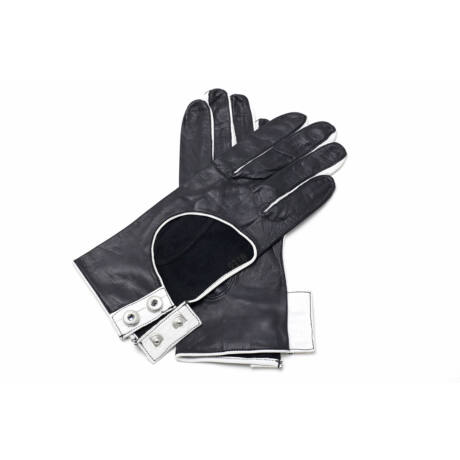Women's hairsheep leather unlined gloves BLACK(W)