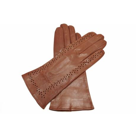 Women's unlined leather gloves BROWN
