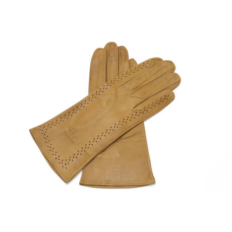 Women's unlined leather gloves CAMEL