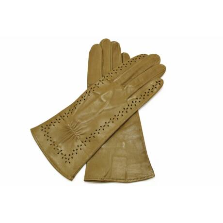 Women's unlined leather gloves OLIVE