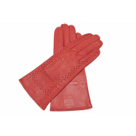 Women's unlined leather gloves RED