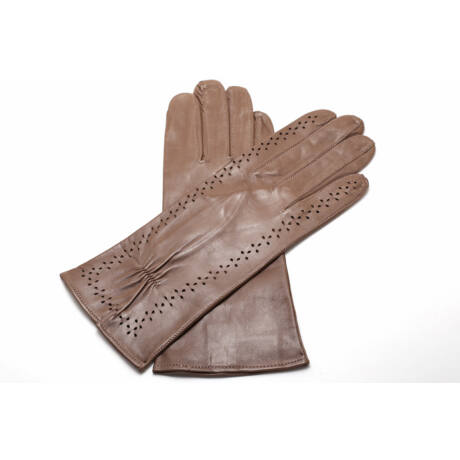 Women's unlined leather gloves TAUPE