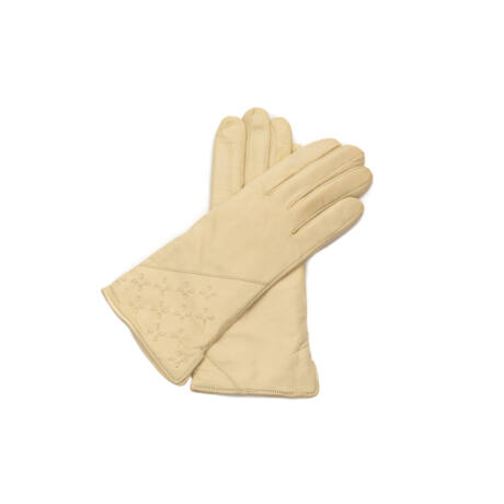 Women's leather gloves. wool lined
