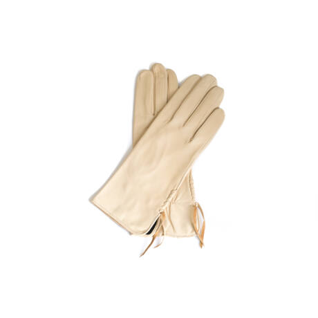 Women's silk lined leather gloves BEIGE