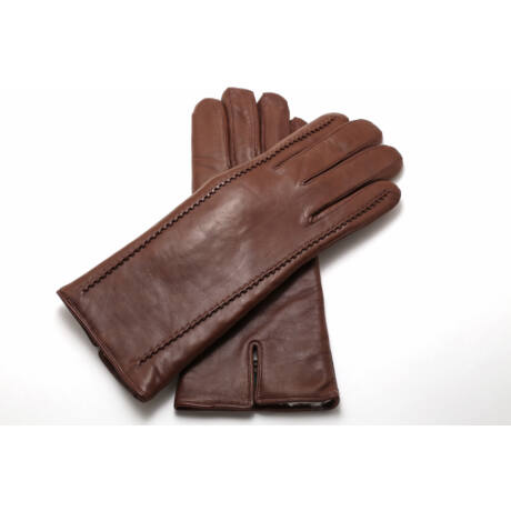 Women's hairsheep leather gloves lined with lamb fur