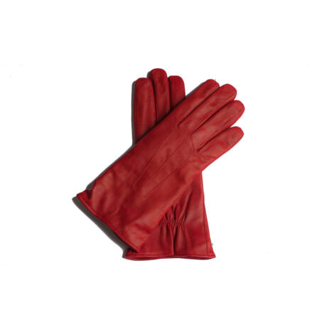Women's leather gloves lined with wool