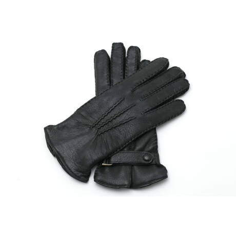 Women's deerskin leather gloves lined with wool
