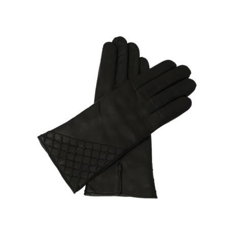 Women's leather gloves. wool lined BLACK